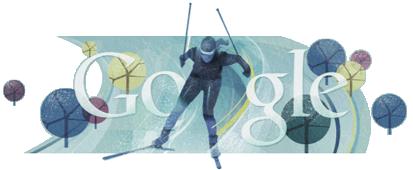 Логотип google на главной странице во время олимпиады 2010 в Ванкувере