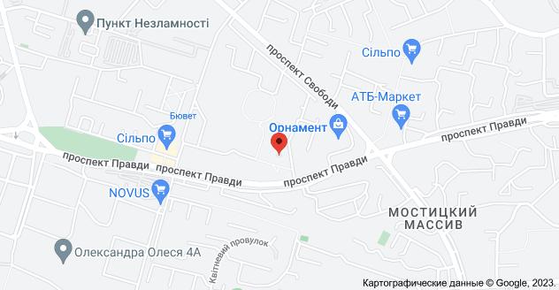 проспект Правди, 62, Київ, 04108: карта
